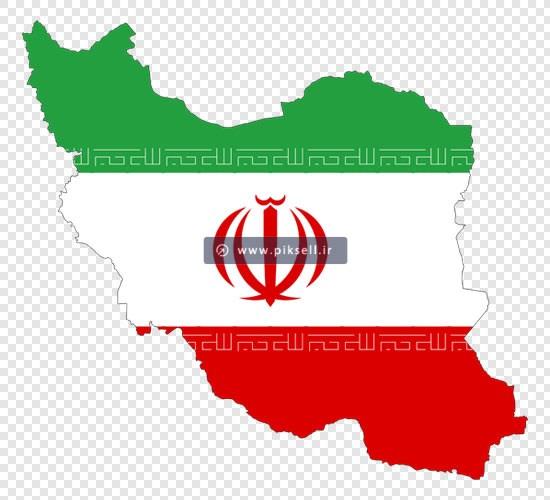دانلود فایل Png پرچم و نقشه کشور ایران بصورت ترانسپرنت