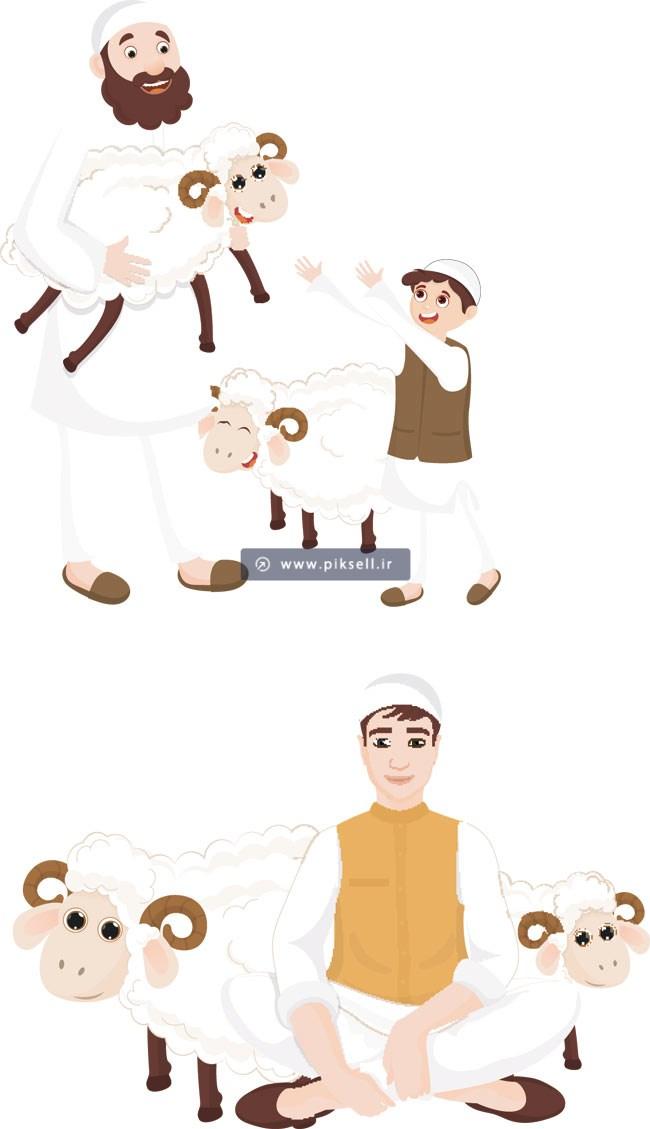 عید قربان خانواده گوسفندان